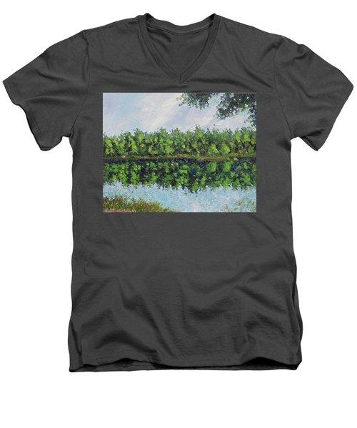 Glenoak Lake Men's V-Neck T-Shirt