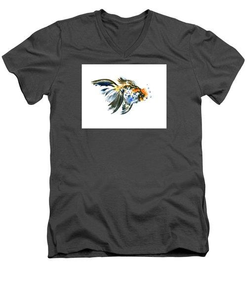 Goldfish Men's V-Neck T-Shirt by Suren Nersisyan