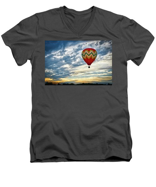 Gliding Through Sunset Men's V-Neck T-Shirt