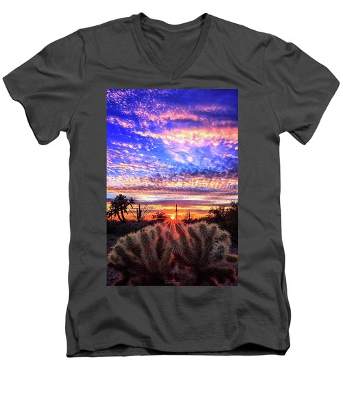 Glimmering Skies Men's V-Neck T-Shirt by Rick Furmanek