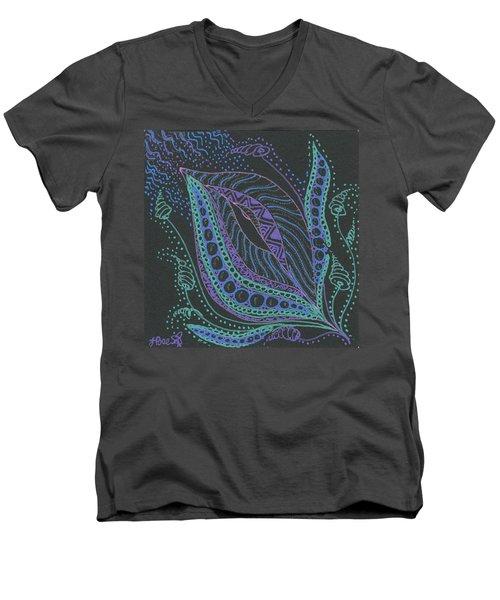 Glitter Flower Men's V-Neck T-Shirt