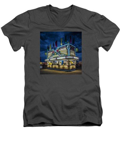 Glittering Concession Stand At The Colorado State Fair In Pueblo In Colorado Men's V-Neck T-Shirt by Carol M Highsmith