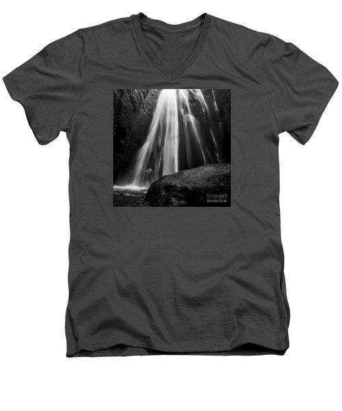 Gljufrabui Iceland Men's V-Neck T-Shirt by Gunnar Orn Arnason