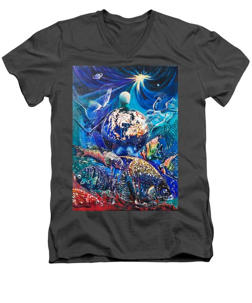 Planet  Earth - Our Family Tree Men's V-Neck T-Shirt