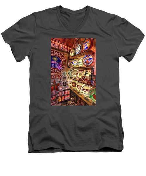 Globes Of The Past Men's V-Neck T-Shirt