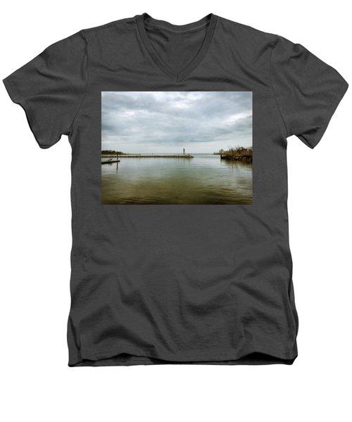 Gloom On The Bay Men's V-Neck T-Shirt
