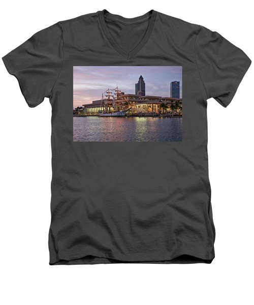 Gloria Visiting Tampa Men's V-Neck T-Shirt
