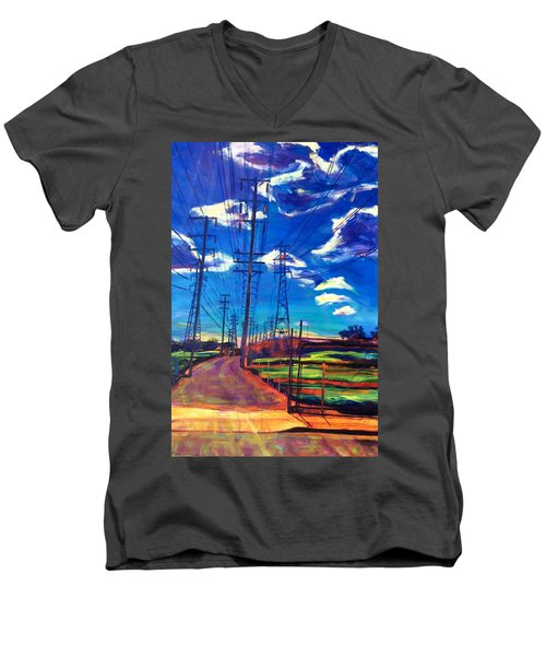 Glorious Afternoon Men's V-Neck T-Shirt by Bonnie Lambert