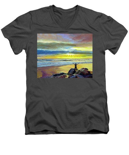 Glorious Day Men's V-Neck T-Shirt