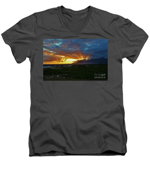Glorious Morning Light Men's V-Neck T-Shirt by Craig Wood