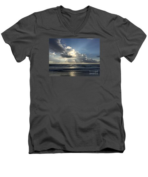 Glory Day Men's V-Neck T-Shirt by LeeAnn Kendall