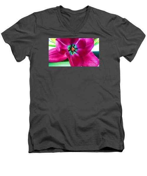Men's V-Neck T-Shirt featuring the photograph Glory Hallelujah by Roberta Byram
