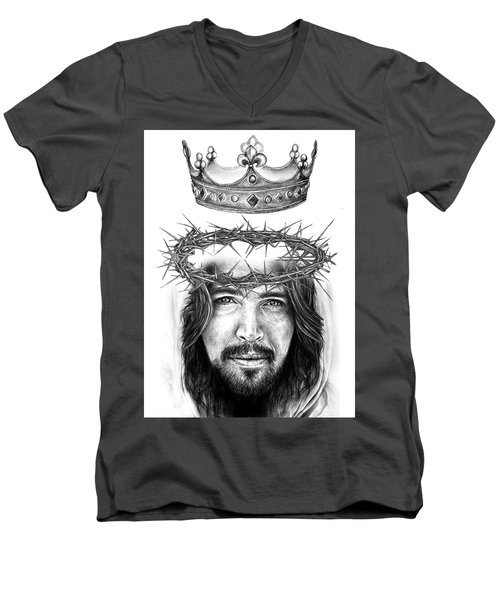 Glory To The King Men's V-Neck T-Shirt