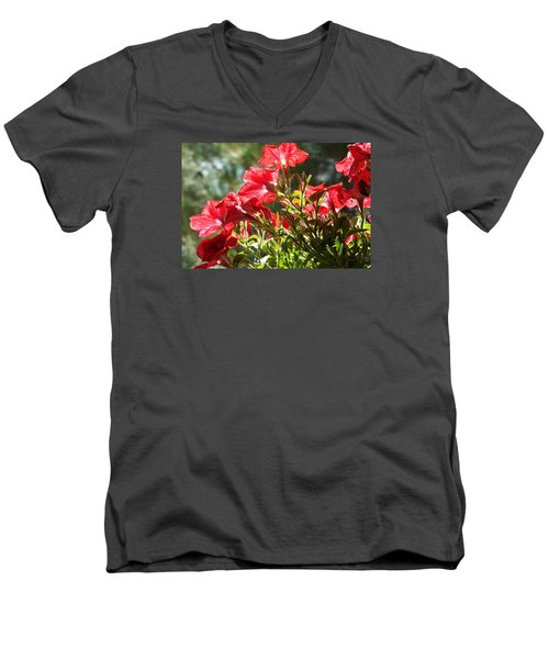 Men's V-Neck T-Shirt featuring the photograph Glory To Thee O Lord by Jake Hartz