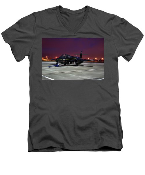 Gloster Meteor T7 Men's V-Neck T-Shirt by Tim Beach