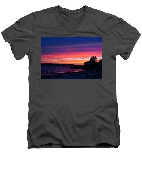 Gloucester Harbor Beach Men's V-Neck T-Shirt