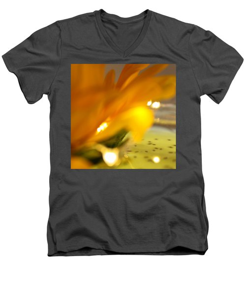 Men's V-Neck T-Shirt featuring the photograph Glow by Bobby Villapando