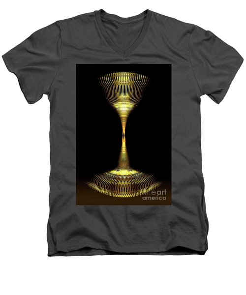 Glowing Brass Lamp Stand Men's V-Neck T-Shirt
