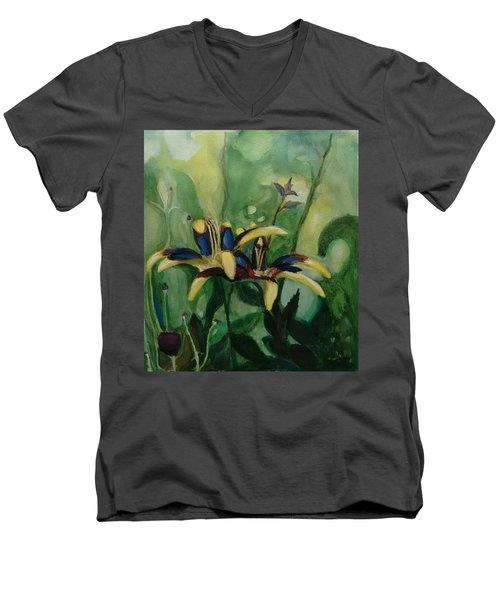 Glowing Flora Men's V-Neck T-Shirt