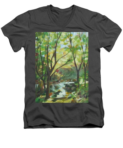 Glowing From The Flood Men's V-Neck T-Shirt