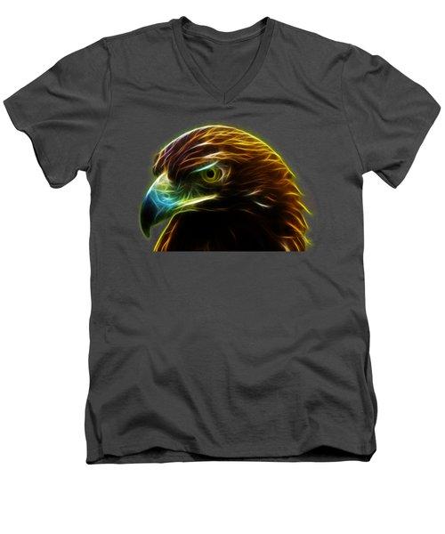 Glowing Gold Men's V-Neck T-Shirt