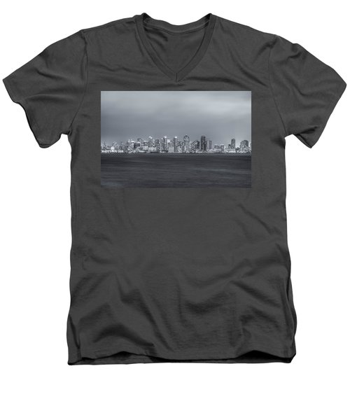Glowing In The Night Men's V-Neck T-Shirt by Joseph S Giacalone