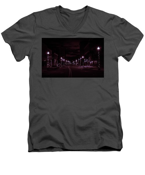 Glowing Streets Downtown Men's V-Neck T-Shirt
