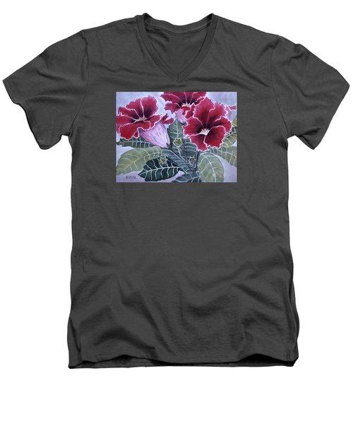 Gloxinias Men's V-Neck T-Shirt