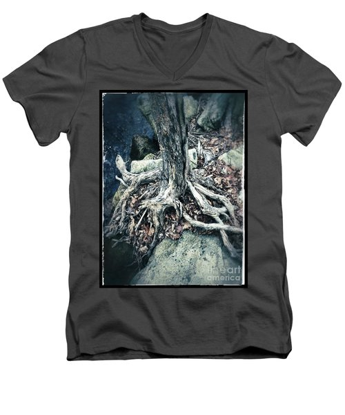 Gnarled Rooted Beauty Men's V-Neck T-Shirt by Jason Nicholas