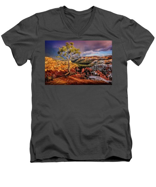 Gnarled Tree At Bryce Canyon Men's V-Neck T-Shirt