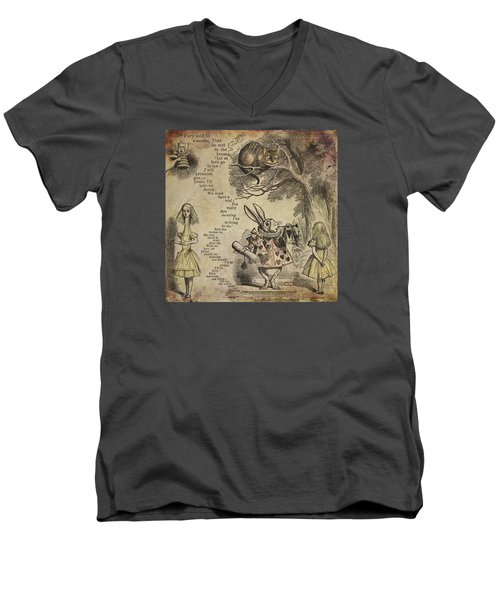 Go Ask Alice Men's V-Neck T-Shirt by Diana Boyd