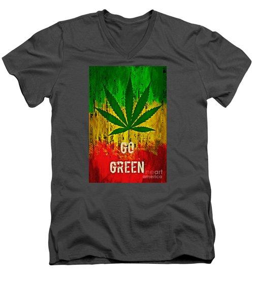 Go Green Men's V-Neck T-Shirt