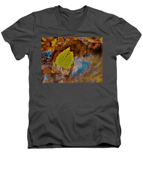 Go With The Flow Men's V-Neck T-Shirt
