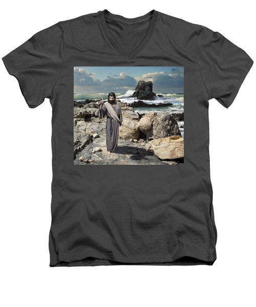 Go Your Faith Has Healed You Men's V-Neck T-Shirt