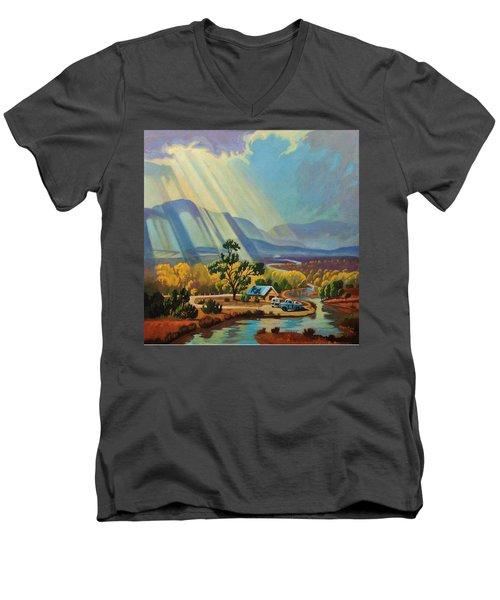 God Rays On A Blue Roof Men's V-Neck T-Shirt
