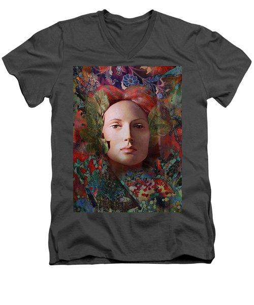 goddess art photography - Fire Queen Men's V-Neck T-Shirt