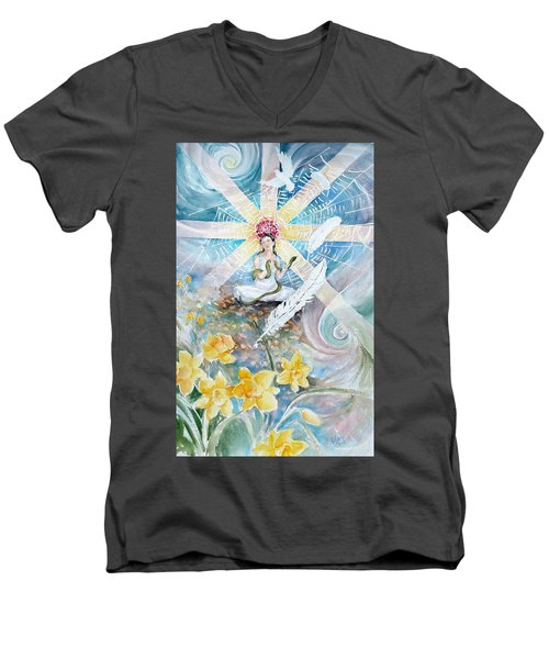 Goddess Awakened Men's V-Neck T-Shirt
