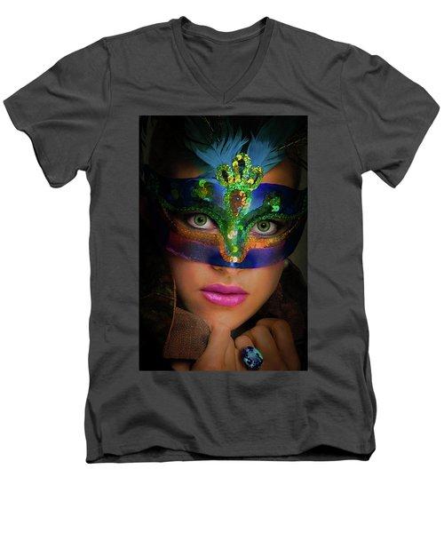 Goddess Men's V-Neck T-Shirt by David Clanton