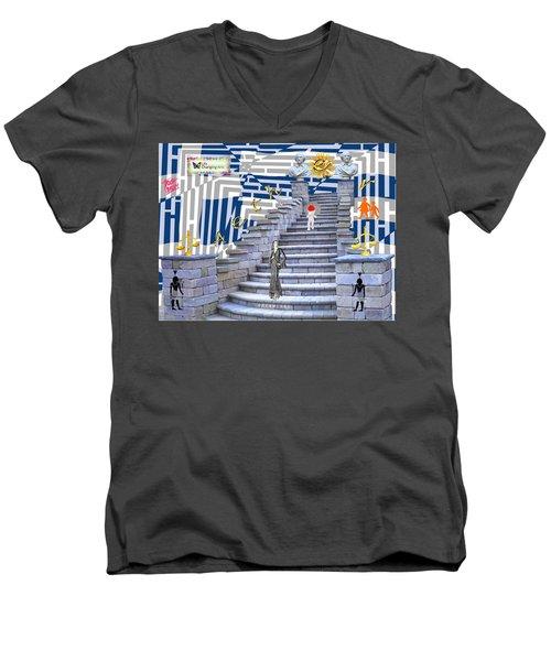 Goddess Enters Men's V-Neck T-Shirt