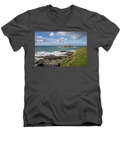 Godrevy Lighthouse 3 Men's V-Neck T-Shirt