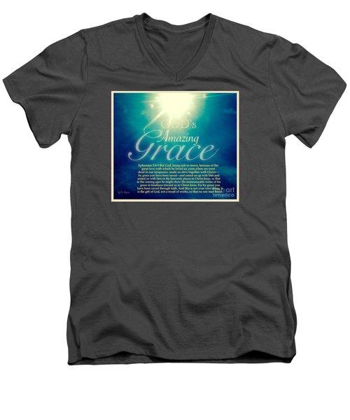God's Amazing Gift Of Grace Men's V-Neck T-Shirt