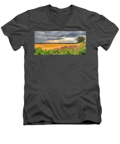 Men's V-Neck T-Shirt featuring the photograph Gods Light by Nick Bywater