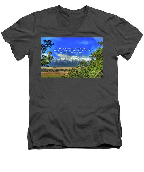 God's Majestic Creation Men's V-Neck T-Shirt