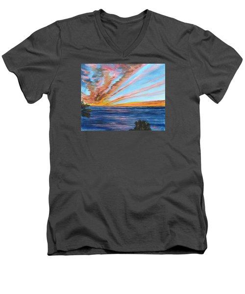 God's Magic On The Key Men's V-Neck T-Shirt by Lloyd Dobson