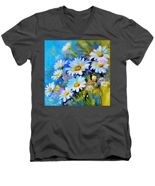 God's Touch Men's V-Neck T-Shirt by Karen Showell