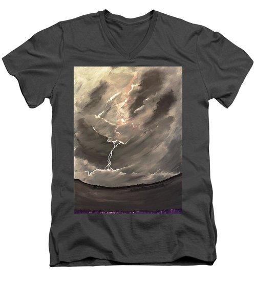 Going Down A Storm Men's V-Neck T-Shirt by Scott Wilmot