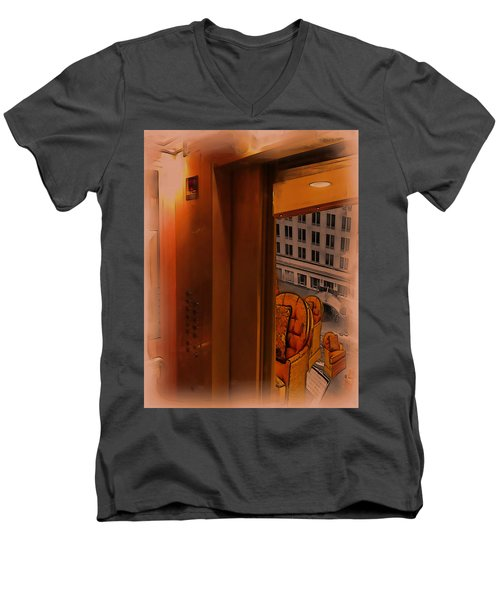 Going Down? Men's V-Neck T-Shirt