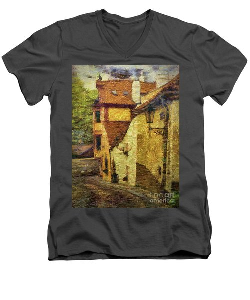 Going Downhill And Round The Bend Men's V-Neck T-Shirt