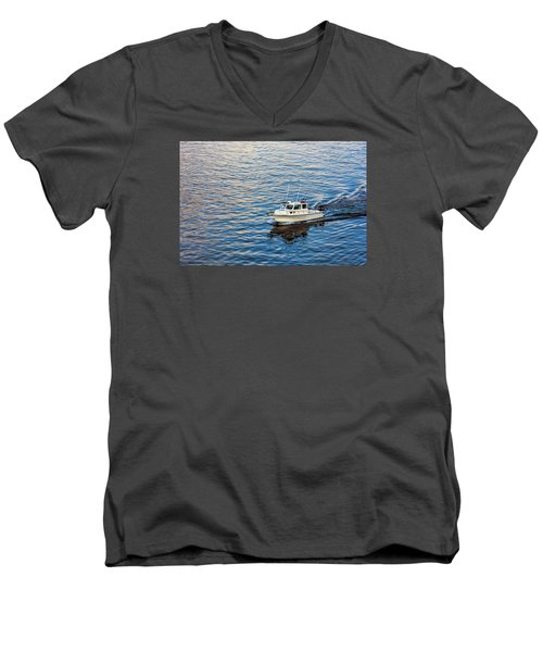 Men's V-Neck T-Shirt featuring the photograph Going Fishing by Lewis Mann