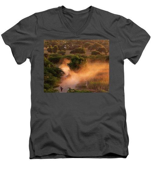 Going Home At Sunset Men's V-Neck T-Shirt